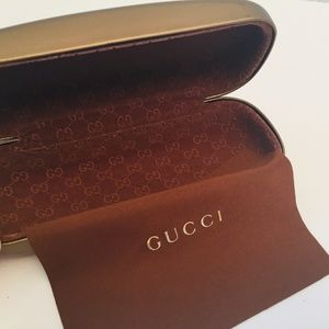 Authentic Gucci Brown Sunglasses Case Only
